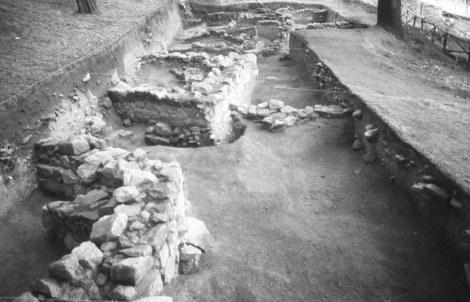 Restos arqueológicos castreños en el Monte del Castro