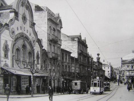 Cine Odeon en los años 40. Foto de Pacheco arreglada.