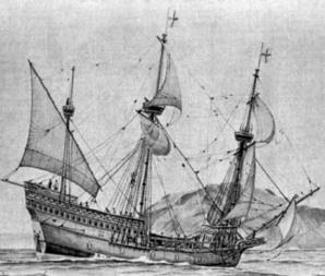 El Goldenhind de Sir Francis Drake