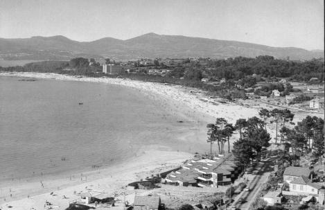 Samil en 1970 con la urbanización de la Foz ya construida.