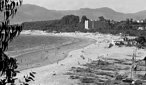 Playa de Samil. Años 70