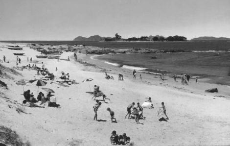 Playa delas Barcas y Toralla años 70