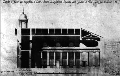 Concatedral. Plano original de la fachada Sur