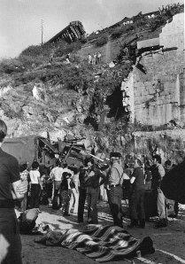 Accidente ferroviario de Rande 1976. Fotografía Magar