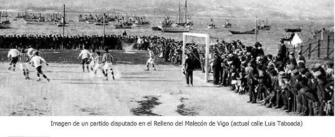 Campo futbol Vigo Sporting relleno Alameda Luis Taboada