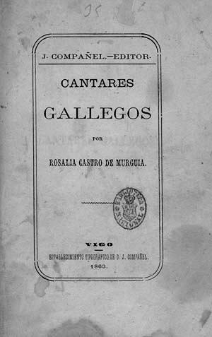 Primer ejemplar de Cantares Gallegos editado en la ciudad