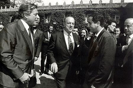 Carlos Príncipe con Manuel Fraga en el Pazo de Castrelos