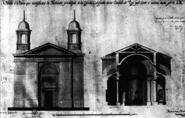 Plano de la nueva iglesia de Santa María de Melchor de Prado
