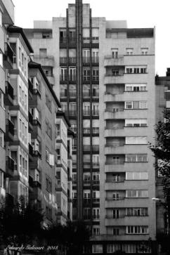 El edificio Curbera hoy en día. En su tiempo fue el primer rascacielos vigués.