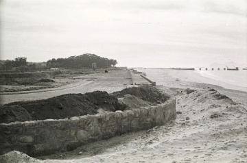 Obras de la playa del Vao en 1968. Fotografía Magar