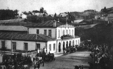 Edificio de la primera estación de tren