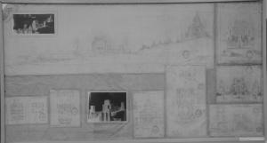 Uno de los muchos planos del proyecto de Antonio Palacios en el Archivo Municipal