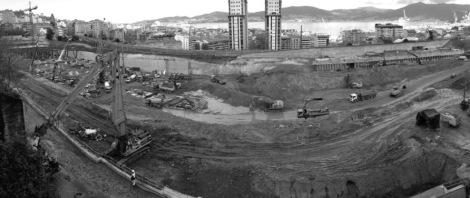 Inicio de las obras de la nueva estación de tren. Fotografía Eduardo Galovart