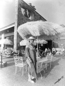 Karina Falagan en el restaurante Jonathan en los años 80