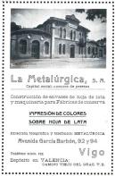 Cartel de la fábrica La Metalúrgica