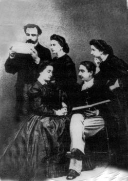 Manuel Bárcena Franco con sus hermanos