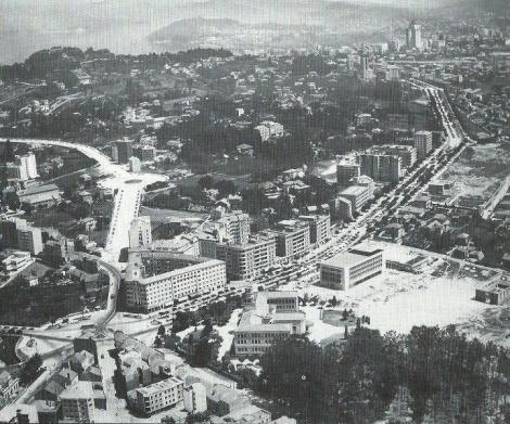 Plaza de América y la avenida de las Camelias recién abiertas