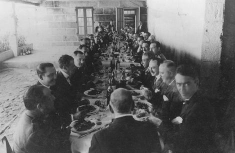 Reunión en la isla de Toralla 1911