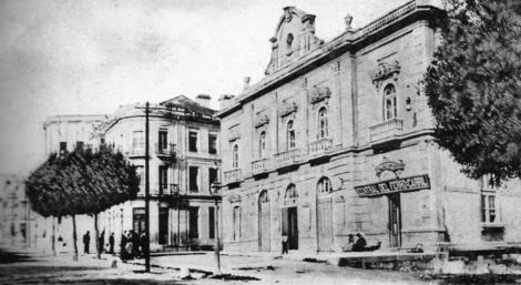El teatro Rosalía de Castro recién construido