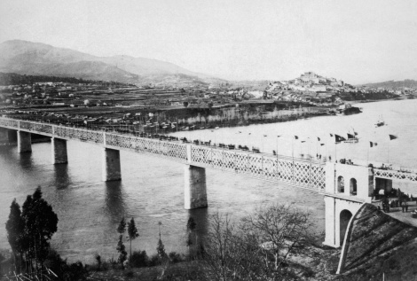 Tui. Inauguración del Puente Internacional en 1886