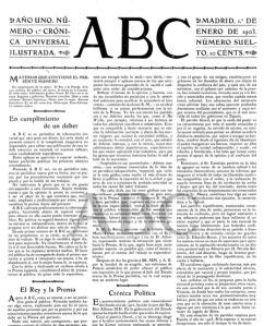 Primer ejemplar del ABC de 1903