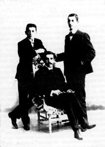 Los tres hijos varones de Sanjurjo Badía