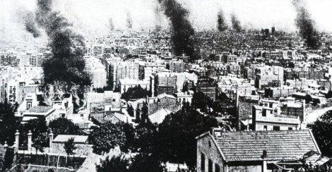 Barcelona quemada en la Semana Trágica