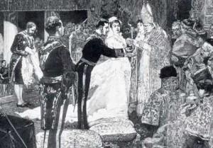 Boda de Alfonso XII y Mercedes de Orleans