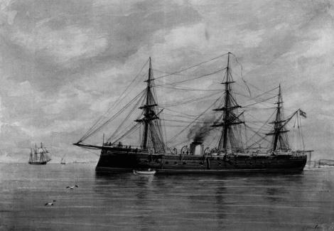 La fragata Numancia