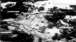 Imágen de satélites americanos con los depósitos de misiles en Cuba