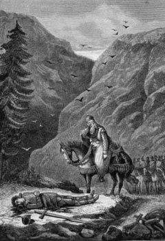 Grabado de la batalla de Roncesvalles