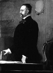 José Canalejas. Pintura de Joaquín Sorolla