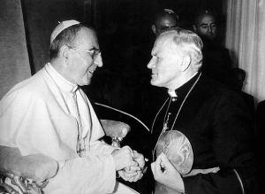 Juan Pablo I y su sucesor Juan Pablo II