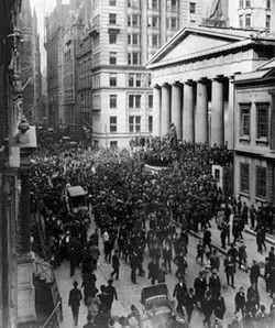 La Bolsa de Nueva York el día del crack bursátil