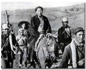 Mao Zedong en la Larga Marcha