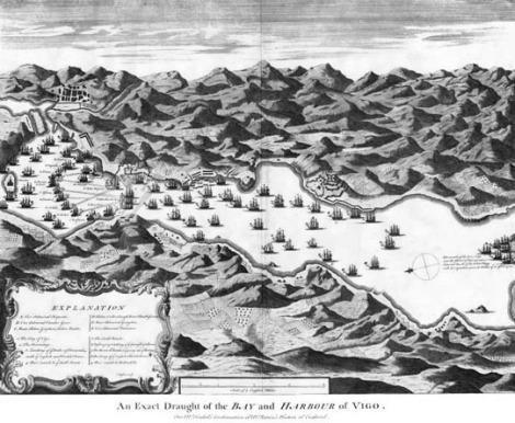 Mapa de la Batalla de Rande