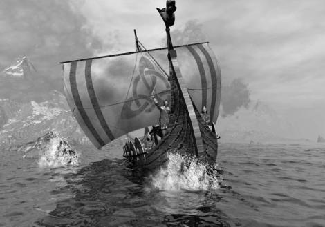 Normandos en drakar
