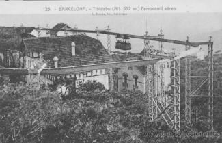 Parque del Tibidabo en una postal antigua