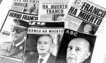 Portadas de los periódicos tras la muerte de Franco