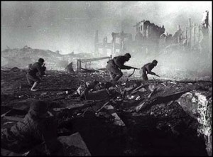 Soldados alemanes en Leningrado