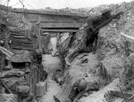 Trinchera en la batalla del Somme