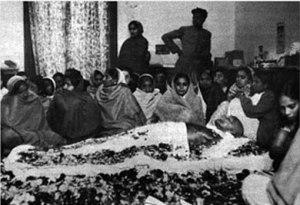 Velatorio por la muerte de Gandhi