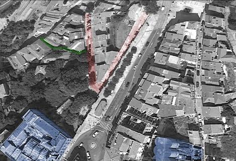 Ampliando la imagen tomada de Google Earth se ven el Paseo de Alfonso y la calle Pobladores