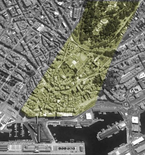 Otra imagen de Google Earth con la zona de la foto en la actualidad