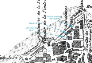 Detalle de la zona de la Laxe en el plano de Madoz de 1856