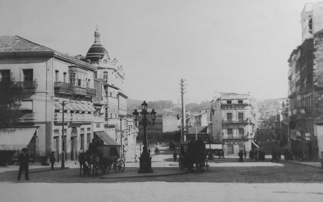 Puerta del Sol e inicio del Príncipe 1900. Fotografía Pacheco