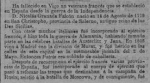 Necrológica en La Unión del soldado francés - 2 -