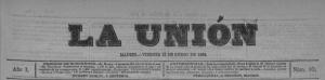 Copia del ejemplar de La Unión del 13 de enero de 1882