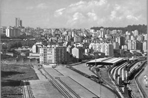 Estación de Guixar en los años 70. Fotografía de la colección digital de Gerardo del Campo Barcia.