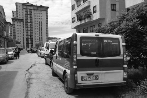 Calle Eira. Pista todavía sin asfaltar